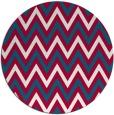 rug #892068   round red stripes rug