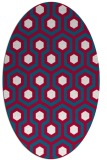 rug #892120   oval red retro rug