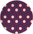 rug #892128 | round red retro rug