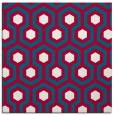 rug #892136 | square red retro rug
