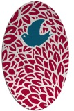 rug #892140 | oval red animal rug