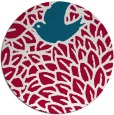 rug #892148 | round red graphic rug