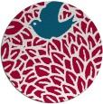 rug #892148 | round red animal rug