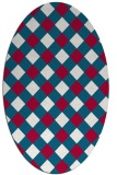 rug #892160 | oval red check rug