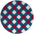 rug #892168 | round red check rug