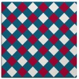rug #892176 | square red check rug