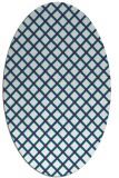 rug #892180 | oval red check rug