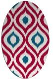 rug #892240   oval red animal rug