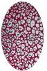 rug #892260 | oval red rug