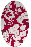 rug #892280 | oval red damask rug