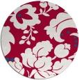 rug #892288 | round red damask rug