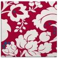 rug #892296 | square red damask rug