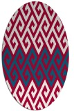 rug #892300   oval red retro rug