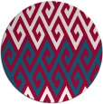rug #892308 | round red abstract rug