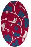 rug #892380 | oval red popular rug