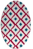 rug #892480 | oval red animal rug