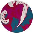 rug #892628   round red damask rug