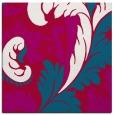rug #892636 | square red damask rug