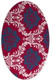 rug #892640 | oval red rug