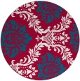 rug #892648 | round red rug