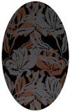 rug #89269   oval black natural rug