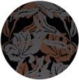 rug #89277 | round black popular rug