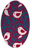 rug #892800 | oval red animal rug