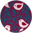 rug #892808 | round red animal rug