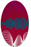 rug #892840 | oval red circles rug