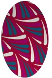 rug #892940 | oval red retro rug