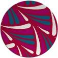 rug #892948 | round red retro rug