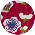 rug #893028 | round red gradient rug