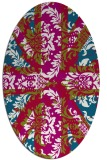 rug #893060 | oval red abstract rug
