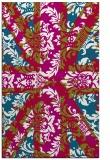 rug #893064    red damask rug