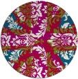 rug #893068 | round red damask rug