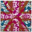 rug #893076 | square red damask rug