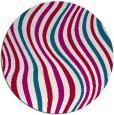 rug #893168   round red stripes rug