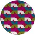 rug #893188 | round red retro rug