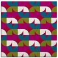 rug #893196 | square red retro rug