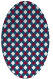 rug #893280 | oval red check rug