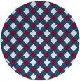 rug #893288 | round red check rug