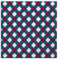 rug #893296 | square red check rug