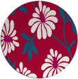 rug #893308 | round red natural rug