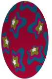 rug #893360 | oval red graphic rug