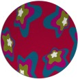 rug #893368 | round red graphic rug