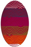 rug #893540 | oval red retro rug
