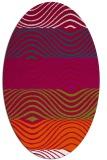 rug #893540 | oval red rug