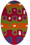 rug #893580 | oval red retro rug