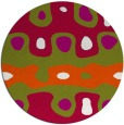 rug #893588 | round red abstract rug