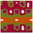 rug #893596 | square red retro rug